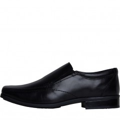 Fluid Junior Classic Leather Slip On Black