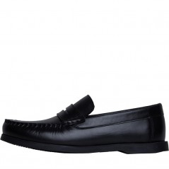 Fluid Junior Leather Penny Loafer Black