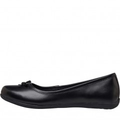 Fluid Junior Leather Ballerina Black