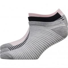 Fruitcake Striped Trainer Liner Pink Stripe/Grey Stripe/Black Stripe