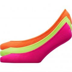 Fruitcake Neon Plains No Show Neon Pink/Neon Yellow/Neon Orange