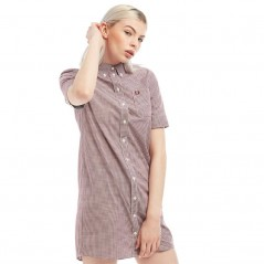 Fred Perry Classic Gingham Mahogany