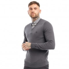 Fred Perry Classic V-Graphite Marl