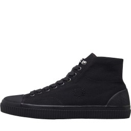 Fred Perry Hughes Mid Shower Resistant High Tops Black