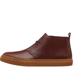 Fred Perry Hawley Mid Leather Chukka Chestnut