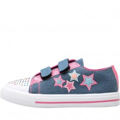 Board Angels Velcro Applique Stars Mid Denim
