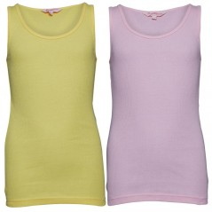 Board Angels Rib Vests Pink/Lemon