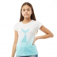 Board Angels Mermaid T-White/Turquoise