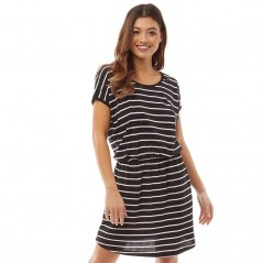Board Angels Yarn Dyed Striped Short Sleeved Jersey Black/White