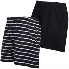 Board Angels Yarn Dyed Stripe/Plain Jersey Black/White