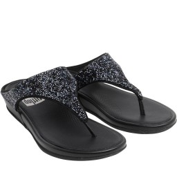 FitFlop Banda Crystal Toe Post All Black