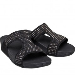 FitFlop Glitzie Slide Black