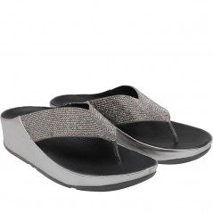 FitFlop Crystall Toe Post Pewter