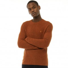 Farah Vintage Garway Ribbed Gingerbread Marl