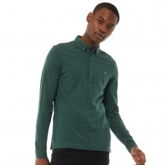 Farah Vintage Merriweather Polo Gillespie Green Marl