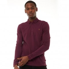 Farah Vintage Merriweather Polo Farah Red Marl