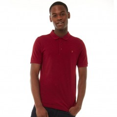 Farah Vintage Blaney Polo Primal Red Marl