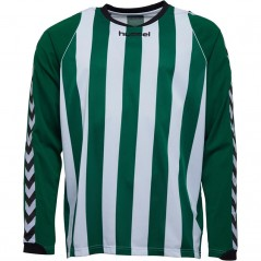 Hummel Bee Authentic Striped Match Jersey Evergreen/White