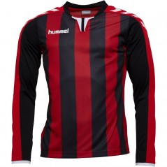 Hummel Striped Match Jersey II Black/True Red