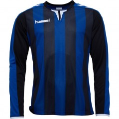 Hummel Striped Match Jersey II Black/True Blue