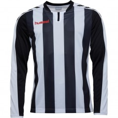 Hummel Striped Match Jersey II Black/White/Fiery Red