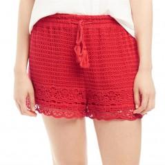 Jack Wills Henriette Crochet Red