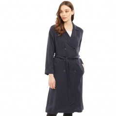 Jack Wills Malmsbury Fluid Belted Trench Navy