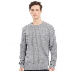 Jack Wills Marlow Cable Grey Marl