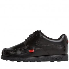 Kickers Junior Fragma Lace Leather Black
