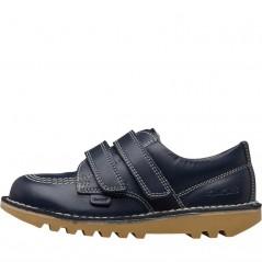 Kickers Lo Velcro Leather Navy