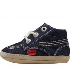 Kickers Baby 1st Kicks Text Dark Blue
