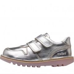 Kickers Glow Velcro Silver/White