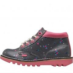Kickers Kick Hi Joules Lace Navy/Pink