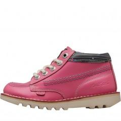 Kickers Kick Hi Joules Lace Pink/Cream