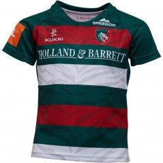 Kukri Leicester Tigers Home Jersey Green/Red/White