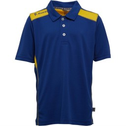 Kukri Performance Polo Royal Blue/Yellow