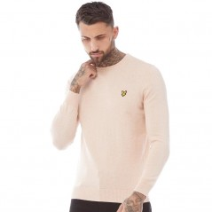 Lyle And Scott Vintage Merino Dusky Coral Marl