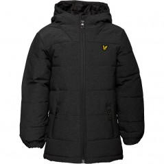 Lyle And Scott Junior Wadded Charcoal Marl