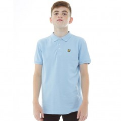 Lyle And Scott Junior Classic Polo Powder Blue Marl
