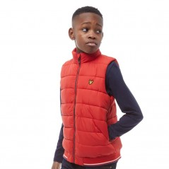 Lyle And Scott Junior Light Weight Colour Block Tomato Red