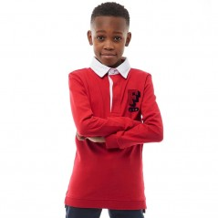 Franklin & Marshall Junior Rugby Polo Mars Red