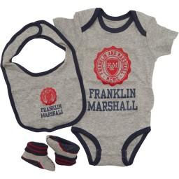 Franklin & Marshall Baby Three Piece Set Vintage Grey Heather