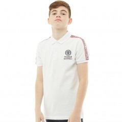 Franklin & Marshall Junior Shoulder Detail Polo Bright White
