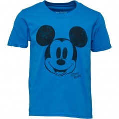 Disney Simple Mickey Face T-Sapphire