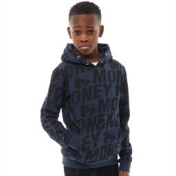Money Junior Black Label Speed Hoodie Navy Blazer