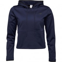 New Balance Relentless Cropped Poly Hoodie Pigment Navy