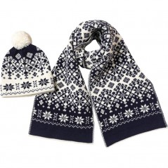 French Connection Snowflake And Set Navy/Cream