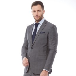 French Connection Prince Of Wales Check Mid Grey Check