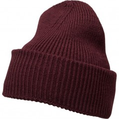French Connection Plain Beanie Bordeaux