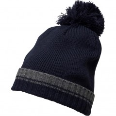 French Connection Plain Beanie Charcoal Melange/Marine Blue